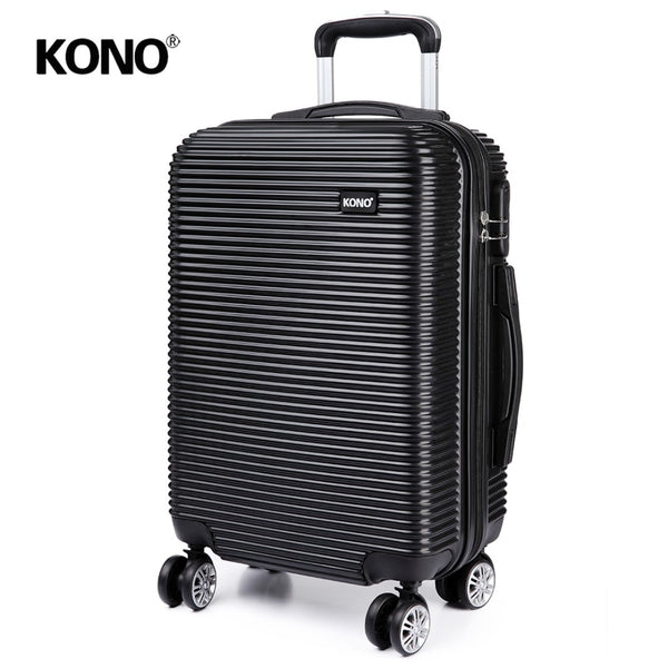 KONO 20 24 28 Inch Rolling Luggage Suitcase Check In Travel Carry On Trolley Case Bag 4 Wheels Spinner Super Lightweight K6676L