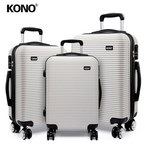 KONO Luggage Suitcase Trolley Case Travel Bag Rolling Lightweight Carry On 4 Wheels Spinner Hardside PC 20 24 28 Inch Set K6676L
