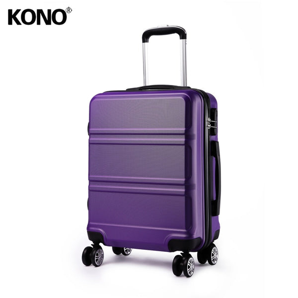 KONO Rolling Hand Luggage Travel Suitcase Hard Shell ABS Lightweight Boarding Check In Carry on Trolley Case Bag 24 Inch YD1871L