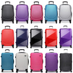 KONO Rolling Luggage Suitcase Travel Bag Carry-on Trolley Case Hardside PC ABS 4 Wheels Spinner Lightweight 20 Inch Many Styles