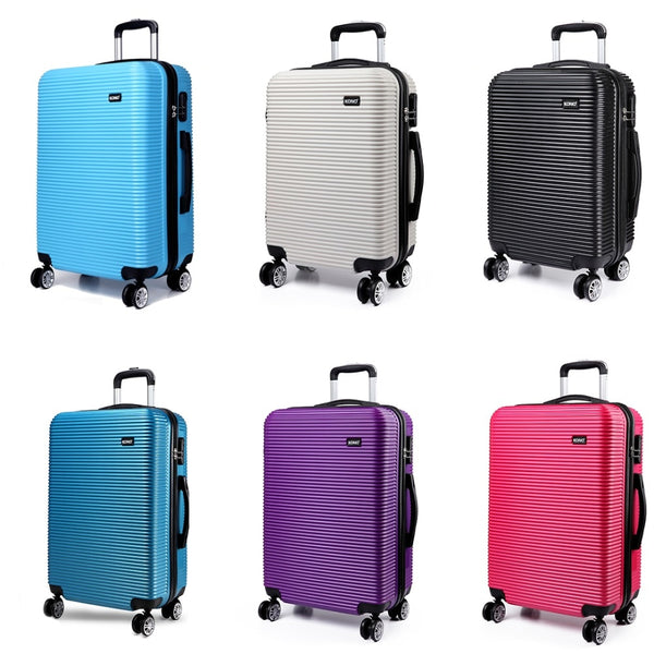 KONO Rolling Luggage Suitcase Travel Bags Lightweight Carry-On Trolley Case 4 Wheels Spinner Hardside PC 20 24 28 Inch K6676L
