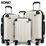 KONO Travel Suitcase Rolling Hand Luggage Trolley Case Bags 20 24 28 Inch 4 Wheels Spinner Hard Shell ABS Lightweight K1777L