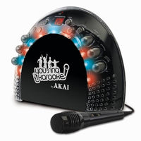 Akai Portable CD+G Karaoke System with Light Effects