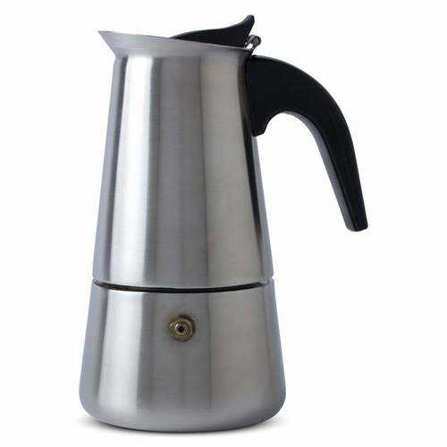 Heavy-Gauge Stainless Steel 4-Cup Espresso Maker