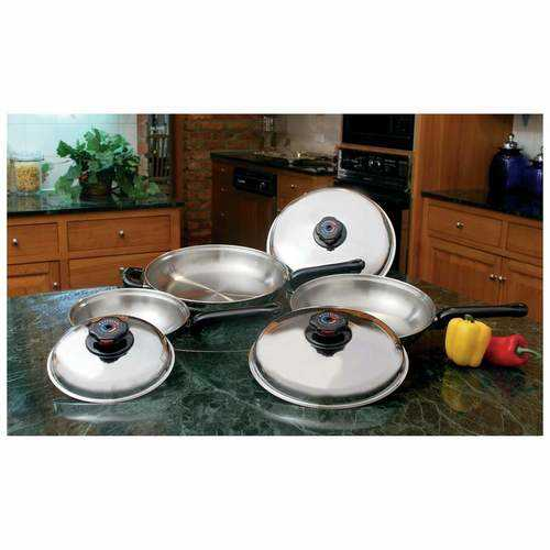 6pc 12-Element T304 Stainless Steel Skillet Set