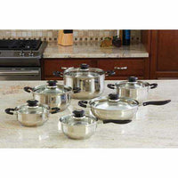 Justin Wilson 12pc Stainless Steel Cookware Set