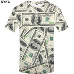 KYKU Dollar T Shirt Men Money Tshirts Gothic 3d T-shirt Funny T Shirts Hip Hop Tshirt Cool Mens Clothing 2018 New Summer Top