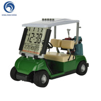 LCD Display Mini Golf Cart Clock for Golf Fans Great Gift for Golfers Race Souvenir Novelty Golf Gifts