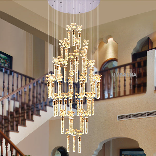 LED Modern Chandeliers American Bubble Bar K9 Crystal Chandelier Lights Fixture Pendant Lamps Hall Bed Room Home Indoor Lighting
