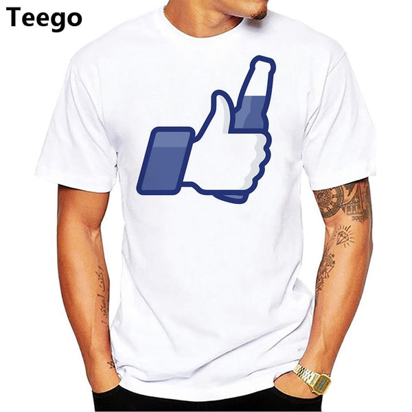 LIKE BEER FUNNY T-shirt cotton top Fashion t shirt men new high quality