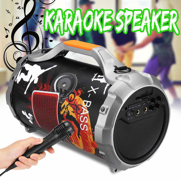 Large Power Wireless bluetooth Speaker Portable Stereo Bass Subwoofer Karaoke DJ Loud Music System +Microphone Outdoor FM AUX SD