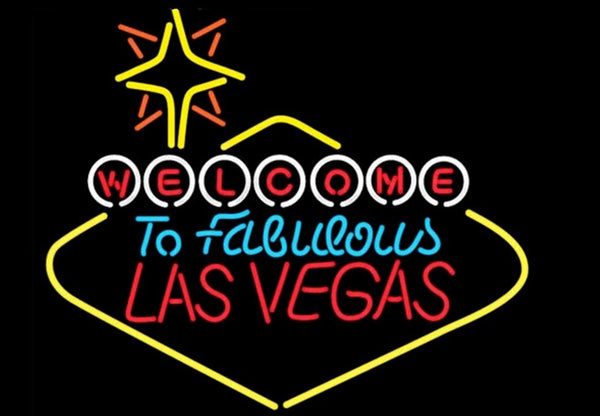 Las Vegas Glass Neon Light Sign Beer Bar