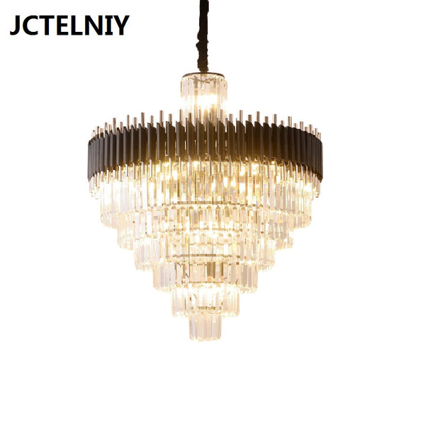 Light luxury crystal chandelier dining room chandelier table club bar Nordic modern luxury led lamps