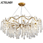 Living room pendant light French crystal led branches bar lamps american