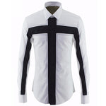 Luxury Brand Men Shirt 2018 Fashion Design Non-iron Long Sleeve Mens Dress Shirts Casual Stylish Slim Fit Shirt Chemise Homme