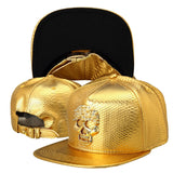 Luxury Golden PU Leather hip hop hats Diamond Crocodile Grain men women snapback  DJ Rap baseball caps