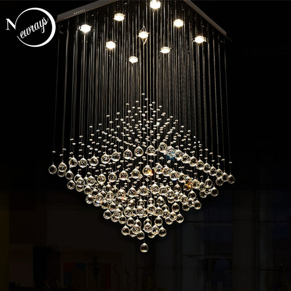 Luxury crystal modern traditional vintage chandelier with GU10 9 lights for hotel living room bedroom lobby restaurant store bar