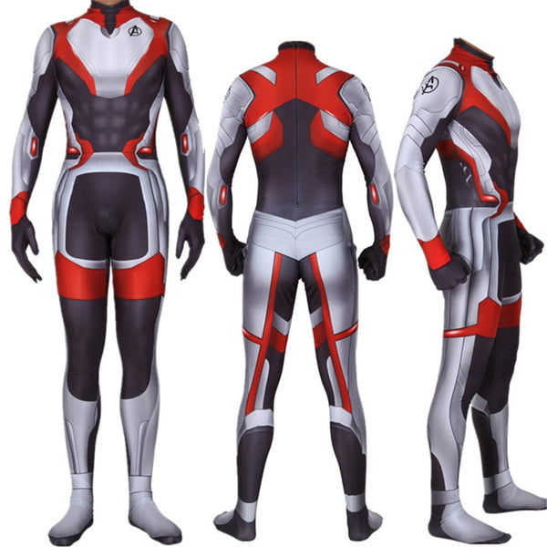 MARVEL Men/Women The Avengers 4 Cosplay Bodysuit Jumpsuits Suit  Endgame Quantum Realm Superhero Polyester Stretch Costume