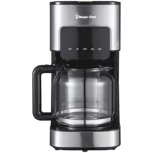 Magic Chef(R) MCSCM12SS 12-Cup Programmable Coffee Maker
