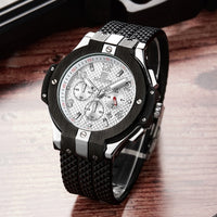 MEGIR Chronograph Men Sport Watch Top Brand Luxury Silicone Quartz Army Military Wrist Watces Clock Men Relogio Masculino