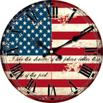 MEISTAR World Cup Russia 2018 Fashion Wooden Flag Wall Clock Silent Living Study Room Clock Wall Art Watches Vintage Large Clock