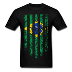 MEN WOMEN Country  T Shirts Custom Male Female Casuals  Tees Japanese Korea Brazil Flags T-shirts