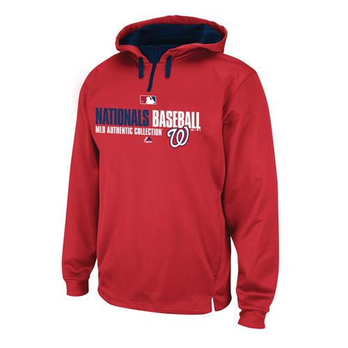 Washington Nationals MLB Men's Team Favorite ThermaBase Performance Hooded Fleece Red  Large