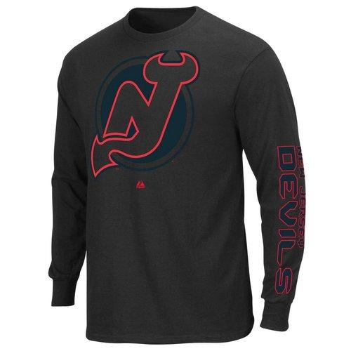 NHL New Jersey Devils Men's Goal Crease Long Sleeve Shirt  Large