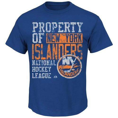 Majestic New York Islanders Wild Double Minor T-Shirt - Royal Blue  Large