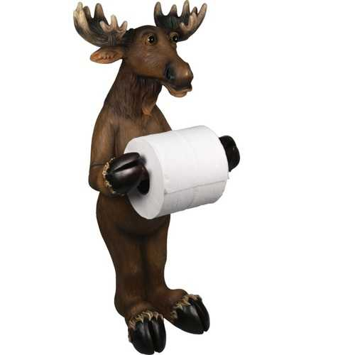 Rivers Edge Moose Standing Toilet Paper Holder
