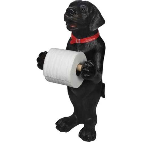 Rivers Edge Black Lab Standing Toilet Paper Holder 807