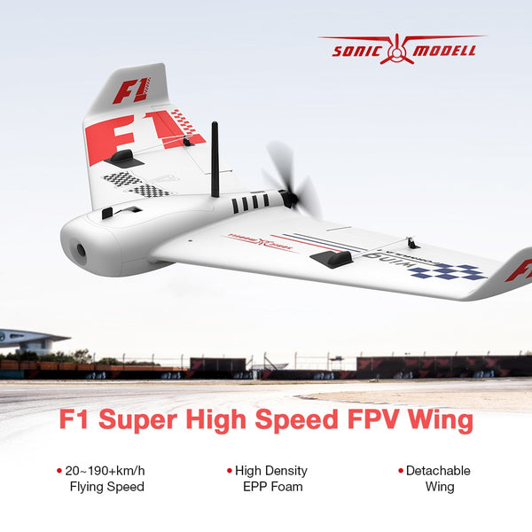 MODELL F1 Wing 833mm Wingspan FPV Drone Super High Speed RC Airplane EPP Delta Wing Racing Aircraft