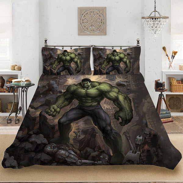 Marvel HD 3D Print Superhero Hulk Bedding set Bedclothes Include Duvet Cover Pillowcase Print Home Textile Bed Linens