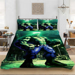 Marvel Hulk Winter Baby King-Full Size Soft Bedding set Bedclothes Include Duvet Cover Pillowcase Print Home Textile Bed Linens