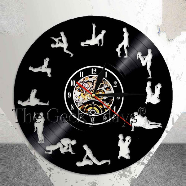 Mature Wall Art Living Room Wall Decor Clock 24 Hours Sex Positions Vinyl Record Wall Clock Kama Sutra Art Sex Love Wall Clock