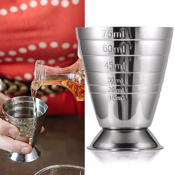 Measuring Shot Cup Ounce Jigger Bar Cocktail Drink Mixer Liquor Measuring Cup Mojito Measurer Milk Coffee Mug Stainless Steel