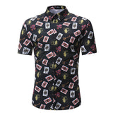 Men Shirt Summer Style Palm Tree Print Beach Hawaiian Shirt Men Casual Short Sleeve Hawaii Shirt Chemise Homme Asian Size 3XL