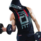 Mens Fitness Hoodies Sleeveless Hoodie Fitness Sweatshirt Boys Hooded Tops Bodybuilding Clothing Workout Hip Hop Activewear