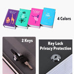 Metal Steel Storage Safe Box Dictionary Secret Book Piggy Bank Money Secret Security Locker Cash Jewellery With Key Lock