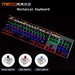 Cool Keyboard LED Backlit keys Blue or Red Switch, wired Keyboard. Letters in : English, Russian and Spanish available