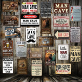 Man Cave Rule ENTER AT YOUR OWN RISK Metal Tin Sign Home Bar Hotel Wall Painting Plaque Party Bar Public Decor