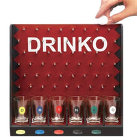 Mini Drinking Game Coin Dropping Party Games Bar Game With 6 Glass Cups And 1 Rack Novelty Gifts