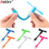Mini USB Fan Flexible Cooling hand Fan portable Cooler Cool for SMART PHONES