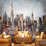 Modern City Wallpapers for Walls 3D Photo Vintage Graffiti Murals Wallpapers Living Room Home Decoration Creative 3D Wall Papers
