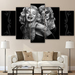Modular Canvas Home Decor Pictures Frame Wall Art Poster 5 Pieces Marilyn Monroe Smile Now Painting Living Room HD Prints PENGDA