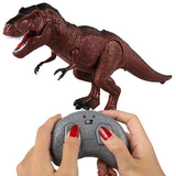 Moving Walking Roaring Dinosaur Remote Control Electronic Light Sound Kids Toy Halloween Gifts S7JN