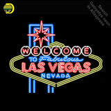 NEON SIGN for Las Vegas Nevada GLASS Tube Welcome to Fabulous Light Sign Store Display Handcraft Design Iconic Sign Pub Signs