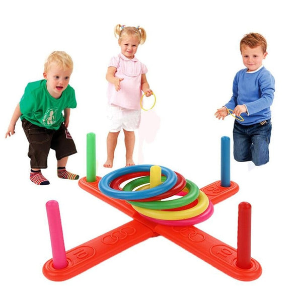 NEW Hoop Ring Toss Plastic Ring Toss Quoits Garden Game Pool Toy Outdoor Fun Set 2019 toys for children