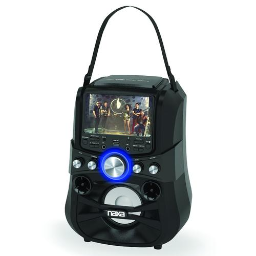 NAXA Electronics NKM-101 Portable Karaoke Party System with Bluetooth