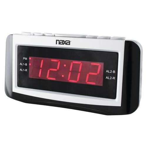 Naxa Digital Dual Alarm clock with Radio Large LED Display